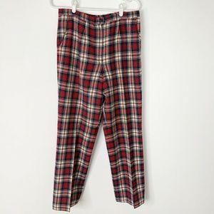 VintagePendleton Red And Black Plaid Pants 12 -14